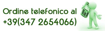 Ordine telefonico al 3472654066